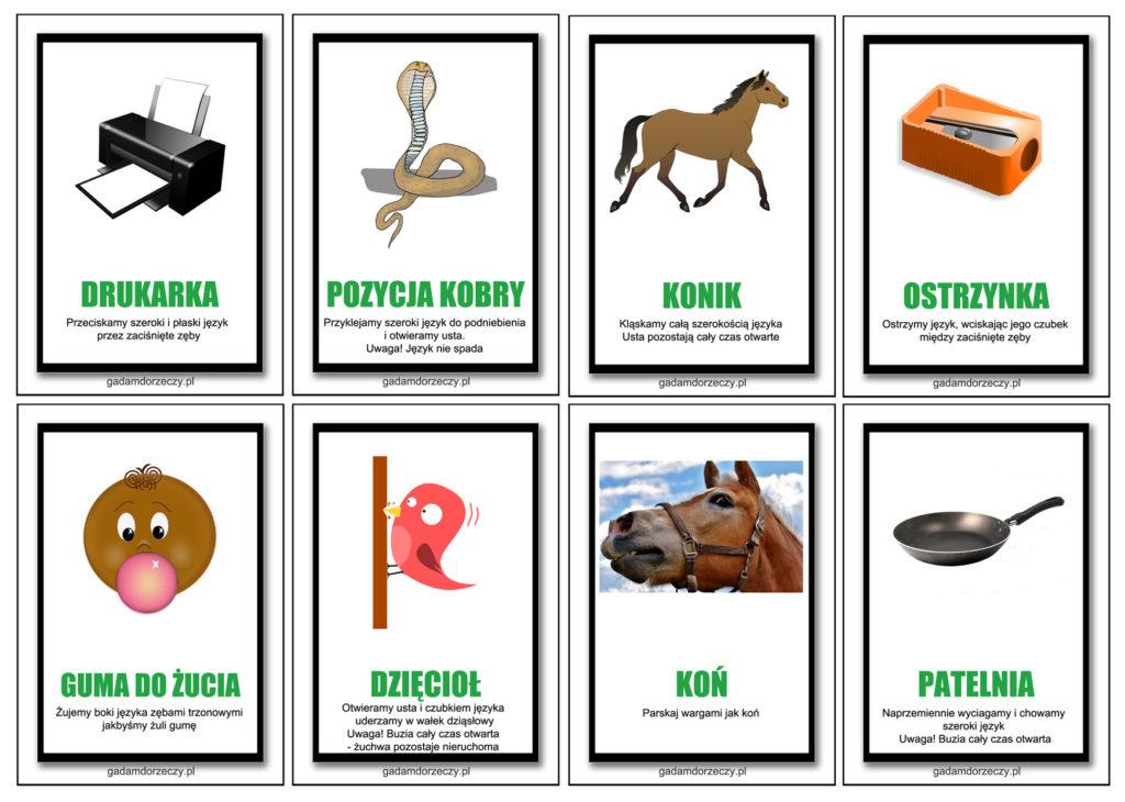 karty do cwiczen jezyka gloska R