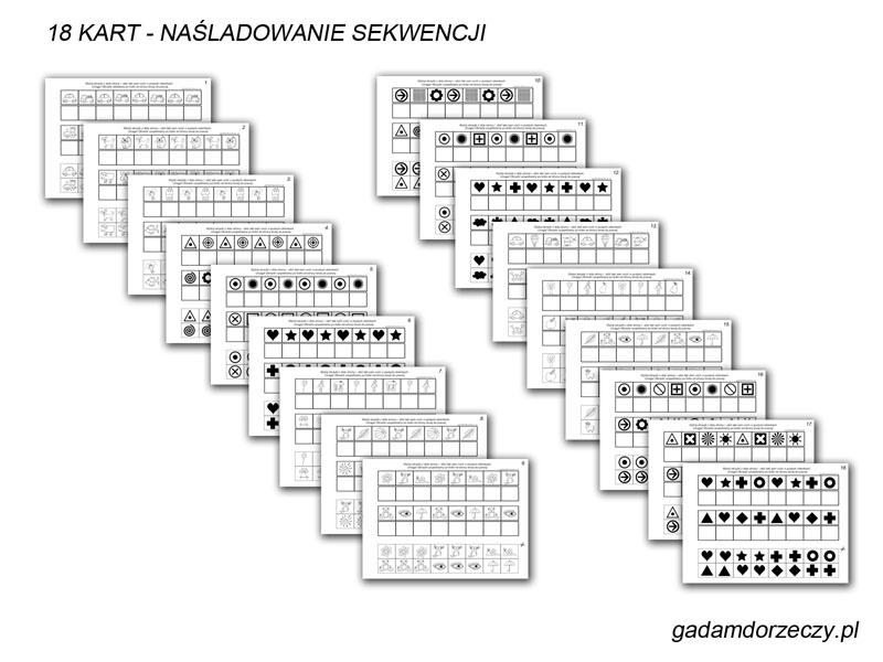 Karty naśladowania sekwencji