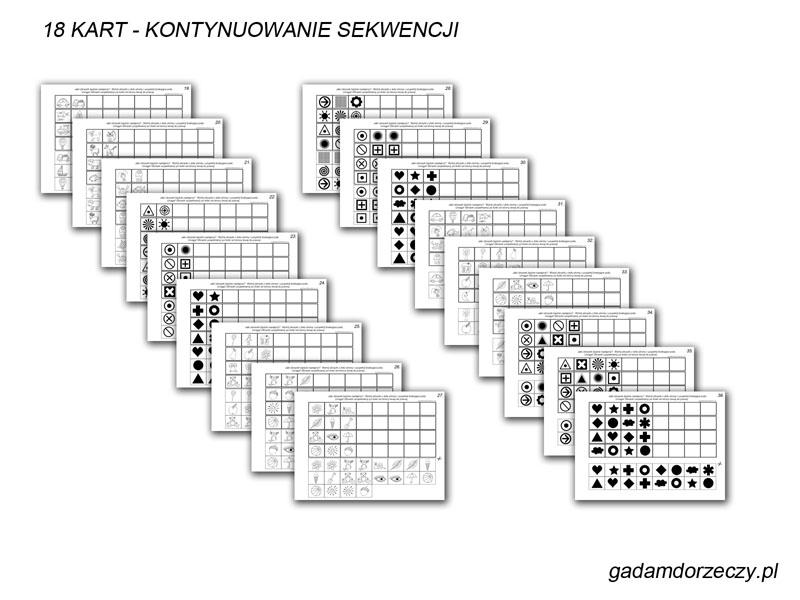 Karty do kontynuowania sekwencji