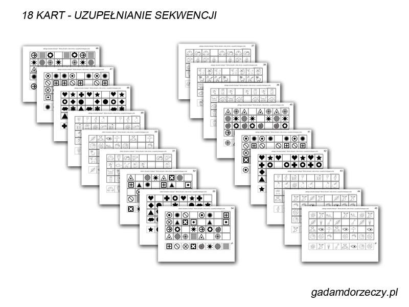 Karty do uzupełniania sekwencji