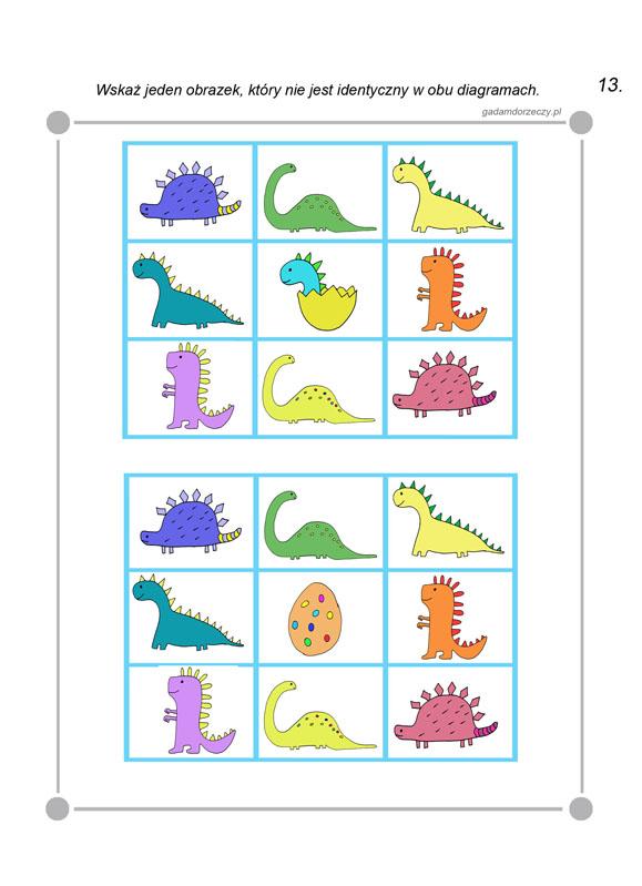 Ćwiczenia z dinozaurami