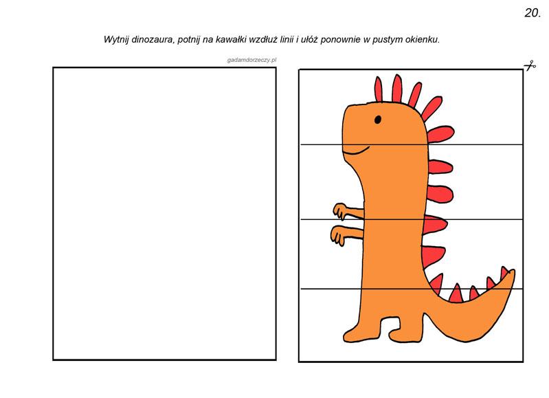 Analiza i synteza wzrokowa z dinozaurami