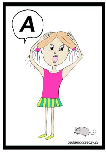 """""""Dziewczynka przestraszyła się myszki. Ona mówi A!"""""""